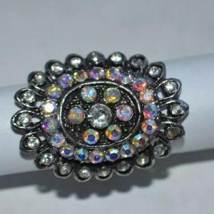 Fashion Ring With Rhinestone One Size